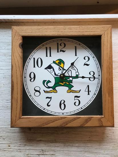 Notre Dame fighting Irish battery operated clock