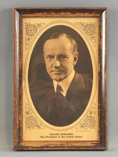Vintage print of Calvin Coolidge president of the US