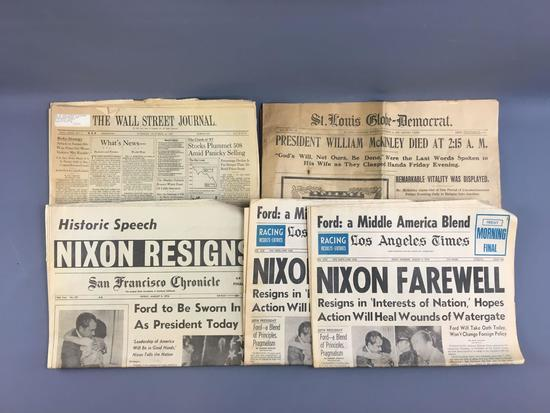 Group of antique/ vintage newspapers