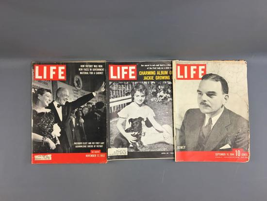 Group of 3 vintage Life Magazines