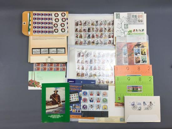 Large Group of first day issued stamps and more
