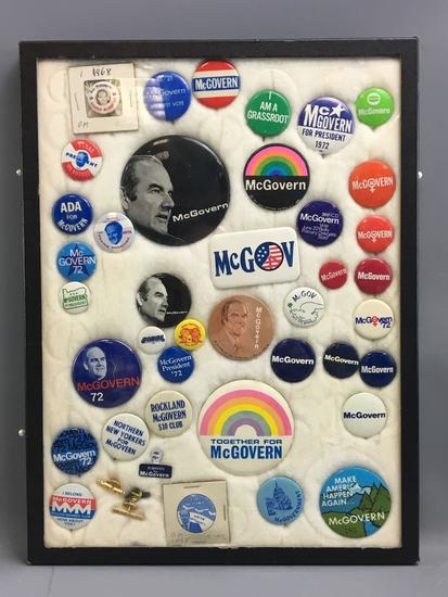 Group of vintage McGovern political pinbacks