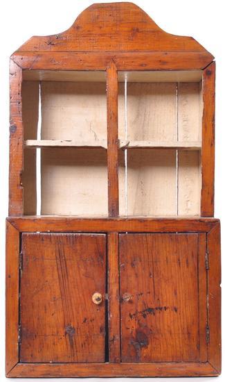 Antique Primitive Child's Doll Kitchen Cabinet