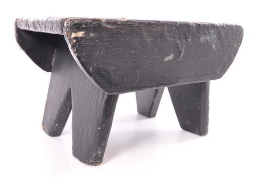 Antique Primitive Painted Step Stool