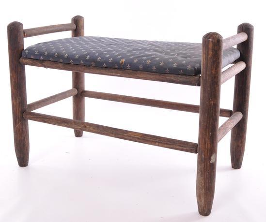 Antique Primitive Wood Bench