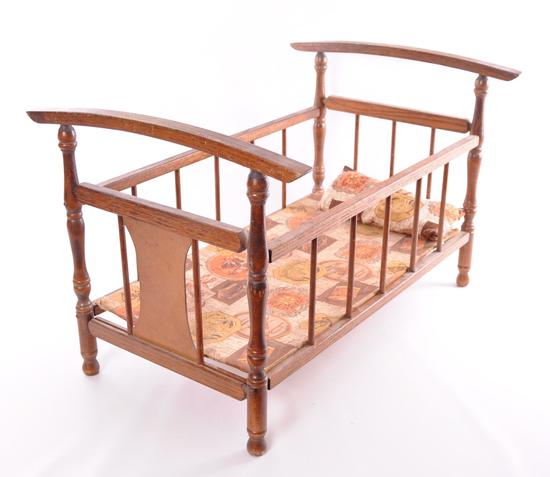 Antique Oak Crib