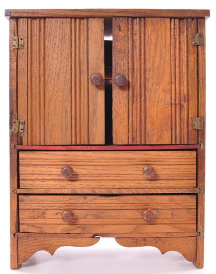 Antique Child's Doll Armoire
