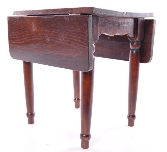 Antique Salesmen Sample Drop Leaf Table