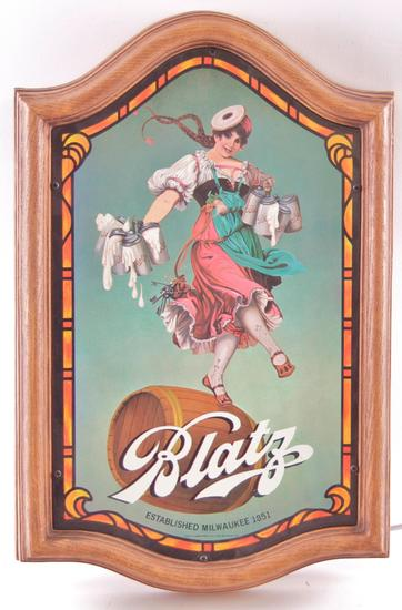 Vintage Blatz Beer Light Up Advertising Sign