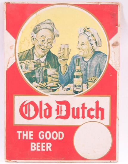 Vintage Old Dutch Advertising Cardboard Countertop Standee
