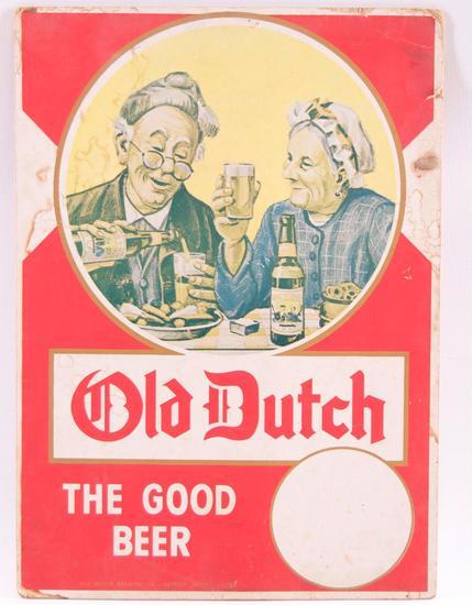 Vintage Old Dutch Advertising Cardboard Countertop Standee