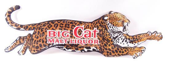 Big Cat Malt Liquor Advertising Die-Cut Cardboard Beer Sign