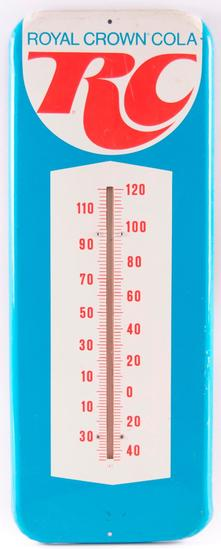 Vintage Royal Crown Cola Advertising Metal Thermometer