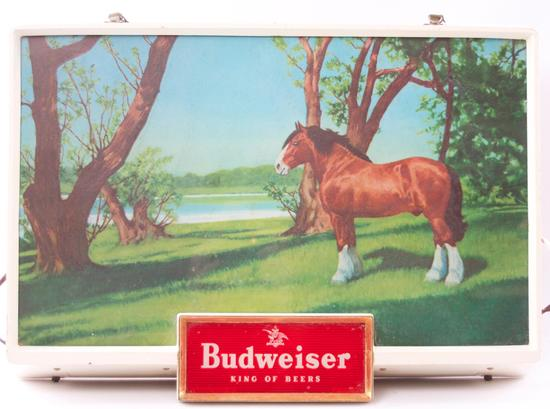 "Vintage Budweiser ""Clydesdale"" Light Up Advertising Beer Sign"