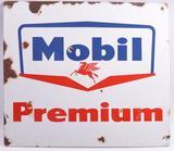 Vintage Mobil Premium Advertising Porcelain Sign
