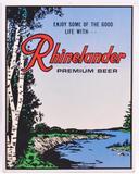 Vintage Rhinelander Beer Advertising Cardboard Countertop Standee