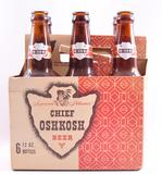 Vintage Chief Oshkosh Beer Advertising Six Pack with Bottles
