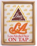 Vintage Blats LA Low Alcohol Beer Light Up Advertising Sign