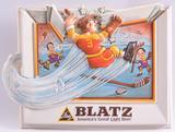 Vintage Blatz Advertising Vacuum Formed Hockey Beer Sign