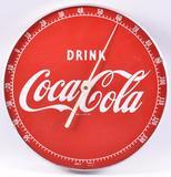 Vintage Coca-Cola Advertising Metal Thermometer