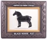 Vintage Black Horse Ale Advertising Vacuum Formed Beer Sign