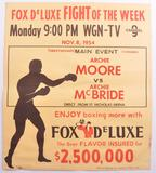 Vintage Fox Deluxe Fight of the Week Advertising Boxing Poster