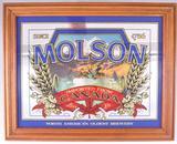 Vintage Molson Advertising Beer Mirror