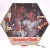 Vintage Country Club Malt Liquor Light Up Advertising Sign