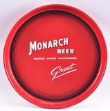 Vintage Monarch Beer Advertising Metal Beer Tray