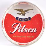 Vintage Yusay Pilsen Premium Beer Advertising Metal Beer Tray