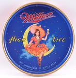Vintage Miller High Life Advertising Metal Beer Tray