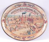 Anheuser Busch Brewing Co. Brewery Advertising Metal Drink Tray