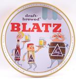Vintage Blatz Advertising Metal Beer Tray