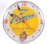 Vintage Vernors Light Up Advertising Beer Clock