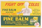 Vintage Pine Balm Cardboard Advertising Sign