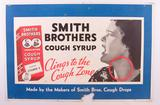 Antique Smiths Brothers Cough Syrup Advertising Cardboard Sign
