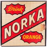 Vintage Drink Norka Orange Embossed Advertising Metal Sign