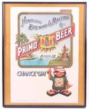 Honolulu Brewing and Malting Co. Primo Beer Advertising Cardboard Sign