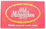 Vintage Old Milwaukee Beer Advertising Back Bar Rubber Mat
