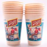 Group of 13 Vintage Schlitz Advertising Paper Cups