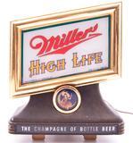Vintage Miller High Life Light Up Advertising Cash Register Topper