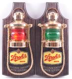 Pair of Vintage Stroh's Beer Light Up Advertising Sconces