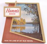 Vintage Hamm's Beer Advertising Plastic Sign