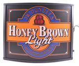 JW Dundee's Honey Brown Light Advertising Light Up Beer Sign