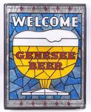 Vintage Genesee Beer Advertising Plastic Sign
