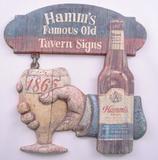 Vintage Hamm's Beer Vacuum Formed Tavern Signed Advertising Sign