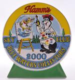 2000 Limited Edition Hamm's Beer Club Sky Blue Waters Collectors Porcelain Figure with Original Box