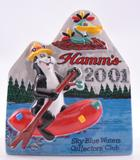 2001 Limited Edition Hamm's Beer Sky Blue Waters Collectors Porcelain Figure with Original Box