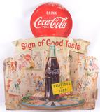 Vintage Coca-Cola Advertising Cardboard Standee
