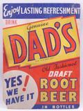 Vintage Dad's Root Beer Advertising Cardboard Sign